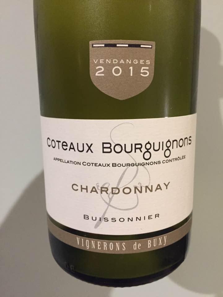 Vignerons de Buxy – Chardonnay 2015 – Buissonnier – Coteaux Bourguignons
