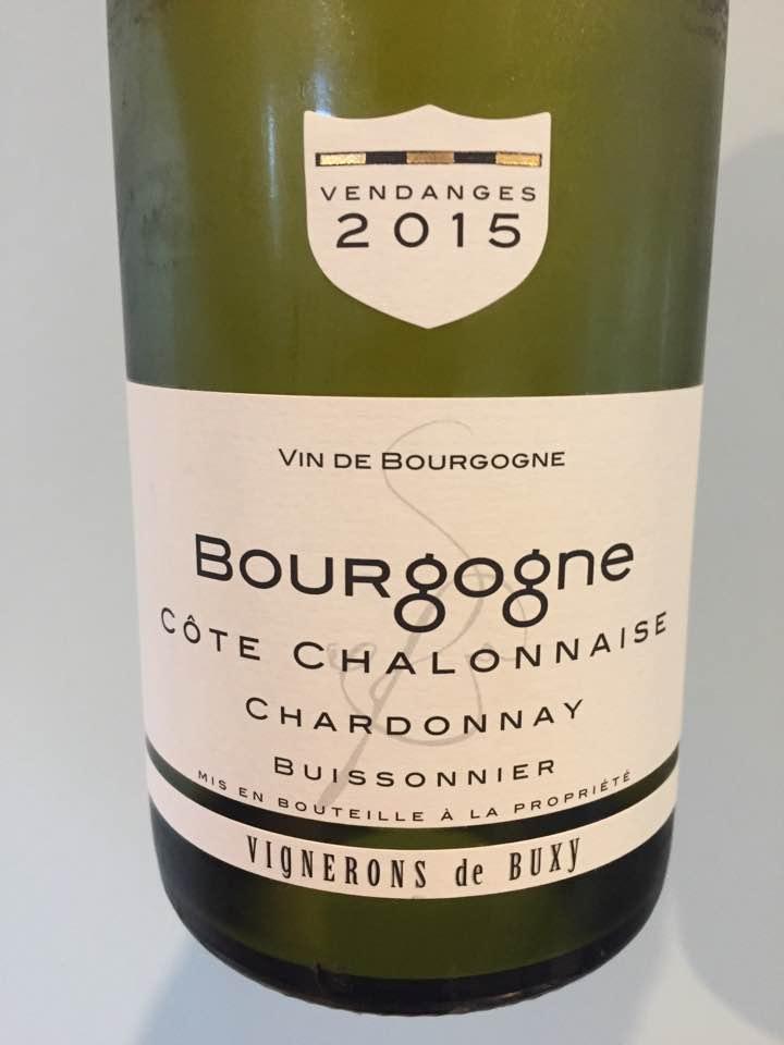 Vignerons de Buxy – Chardonnay 2015 Buissonnier – Côte Chalonnaise – Bourgogne