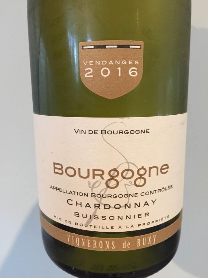 Vignerons de Buxy – Chardonnay 2016 – Buissonnier – Bourgogne