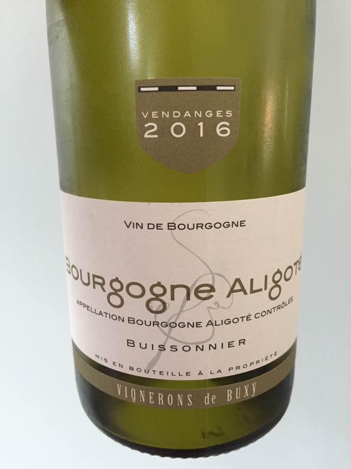 Vignerons de Buxy 2016 – Bourgogne Aligoté
