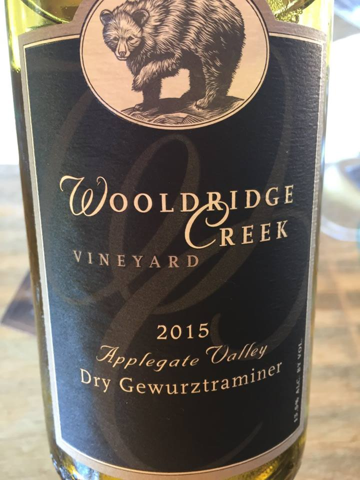 Wooldridge Creek Vineyard – Dry Gewurztraminer 2015 – Applegate Valley