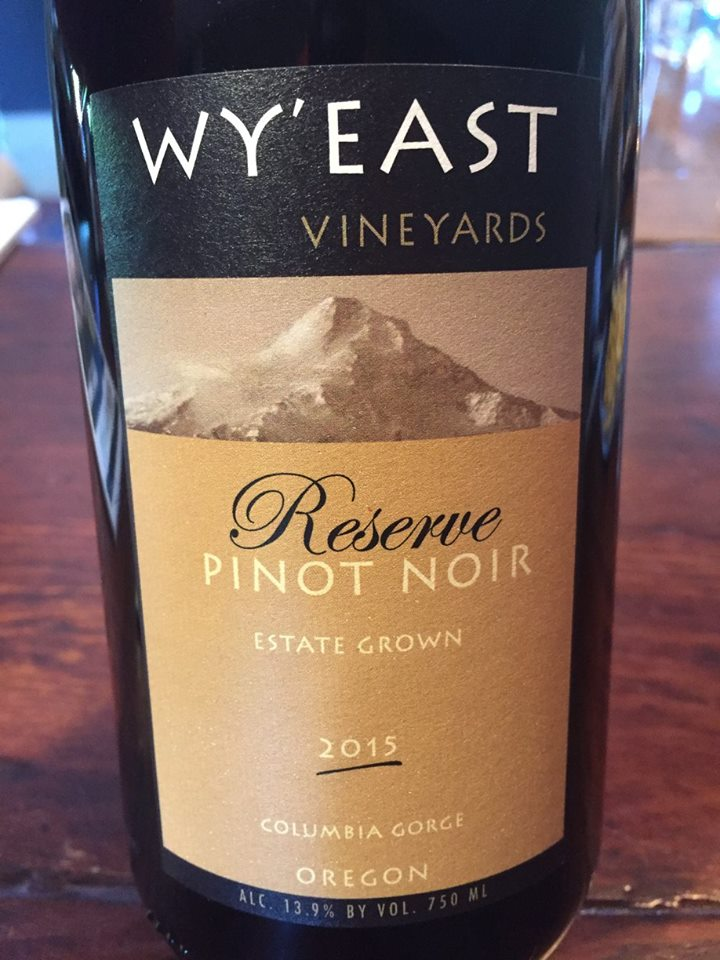 Wy'East Vineyards – Reserve Pinot Noir 2015 – Estate grown – Columbia gorge, Oregon