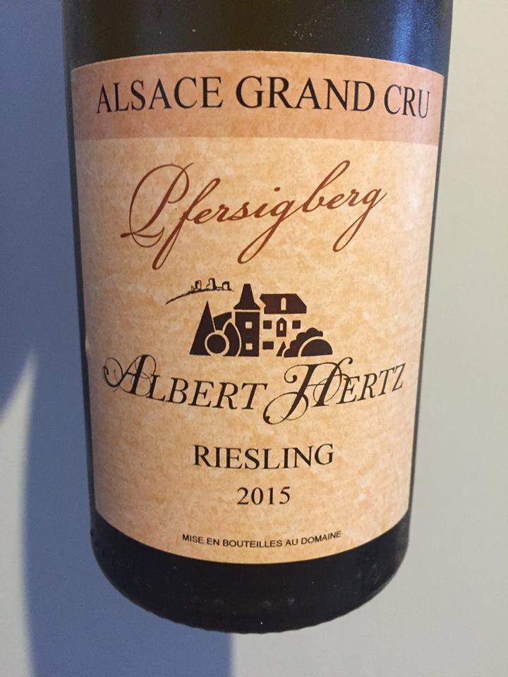 Albert Hertz – Riesling 2015 – Pfersigberg – Alsace Grand Cru