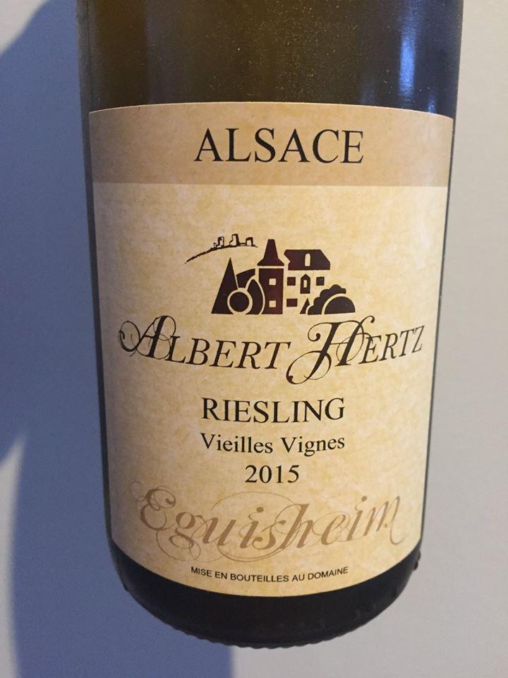Albert Hertz – Riesling Vieilles Vignes 2015 – Eguisheim – Alsace