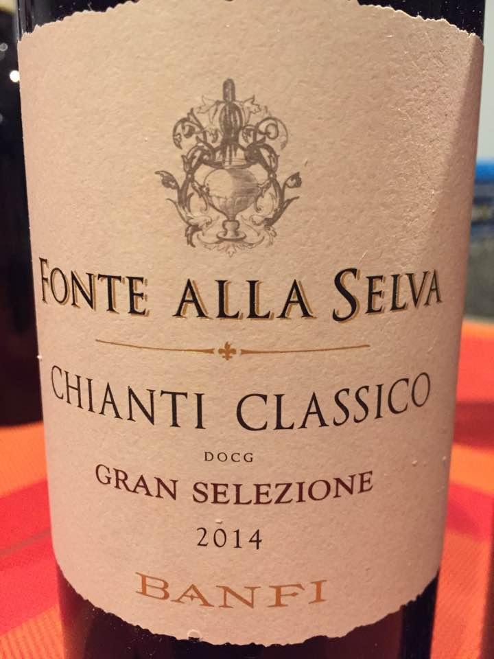 Banfi – Fonte Alla Selva 2014 – Chianti Classico Gran Selezione