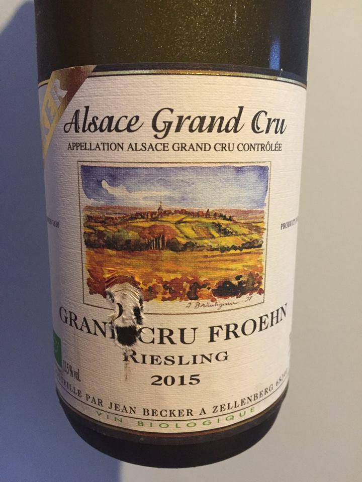 Becker – Riesling 2015 – Froehn Grand Cru – Alsace