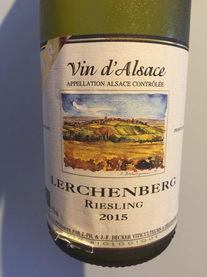 Becker – Riesling 2015 – Lerchenberg – Alsace