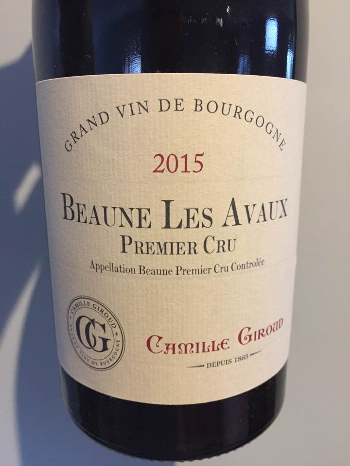 Camille Giroud 2015 – Beaune Les Avaux Premier Cru