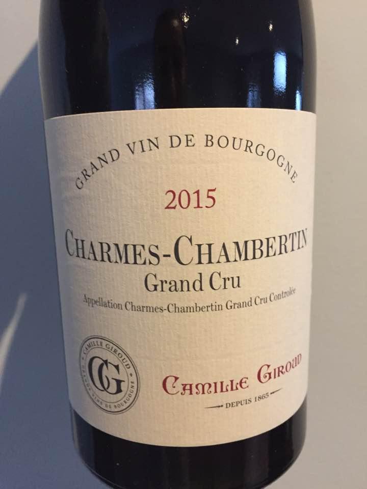 Camille Giroud 2015 – Gevrey-Chambertin Grand Cru