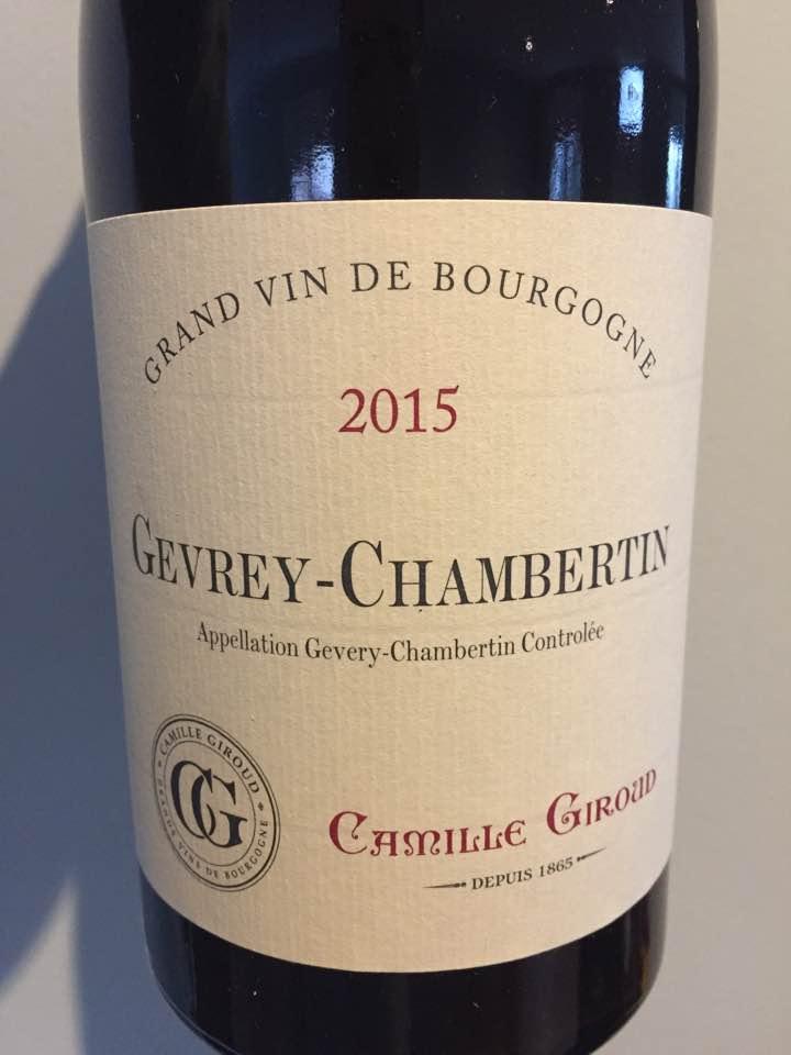 Camille Giroud 2015 – Gevrey-Chambertin