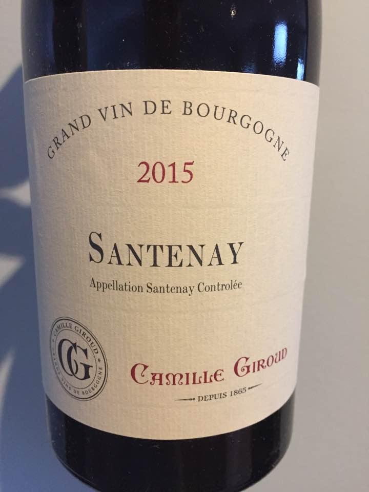 Camille Giroud 2015 – Santenay
