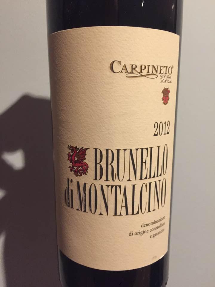 Carpineto 2012 – Brunello di Montalcino DOCG