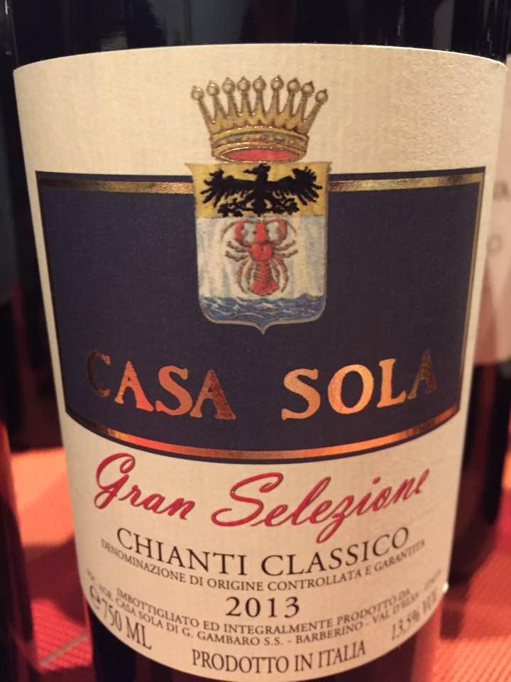 Casa Sola 2013 – Chianti Classico Gran Selezione