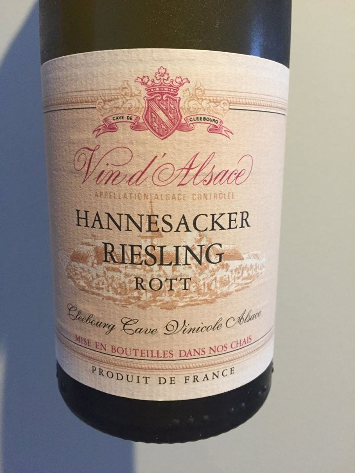 Cave Viticole de Cleebourg – Hannesacker Riesling Rott 2015 – Alsace