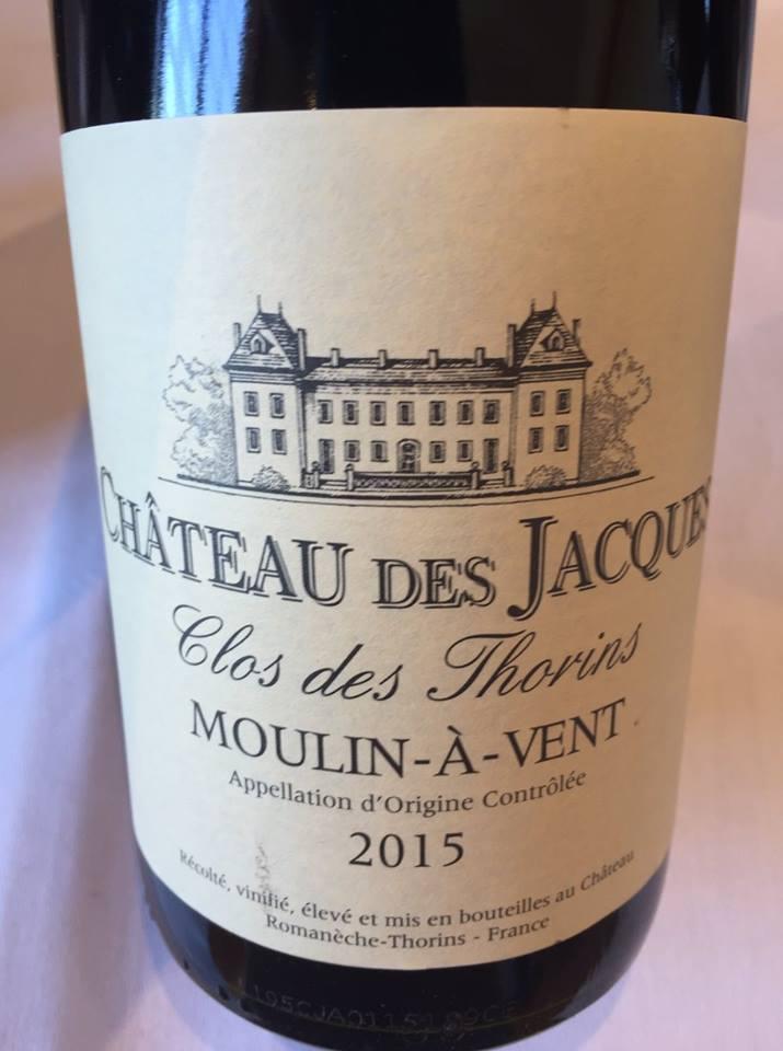Château des Jacques – Clos des Thorins 2015 – Moulin-à-Vent