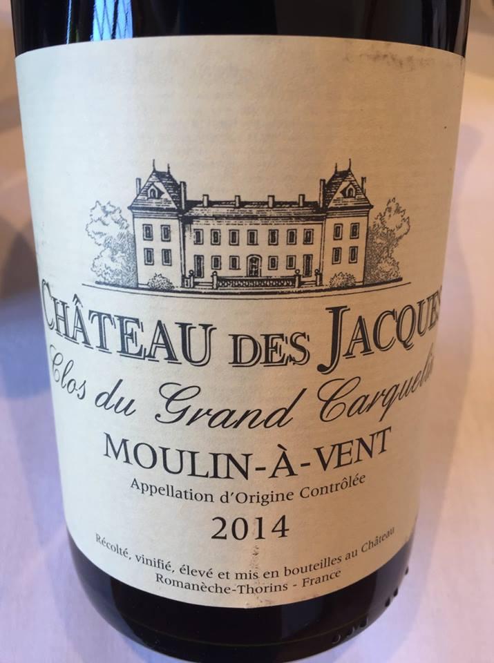 Château des Jacques – Clos du Grand Carquelin 2014 – Moulin-à-Vent