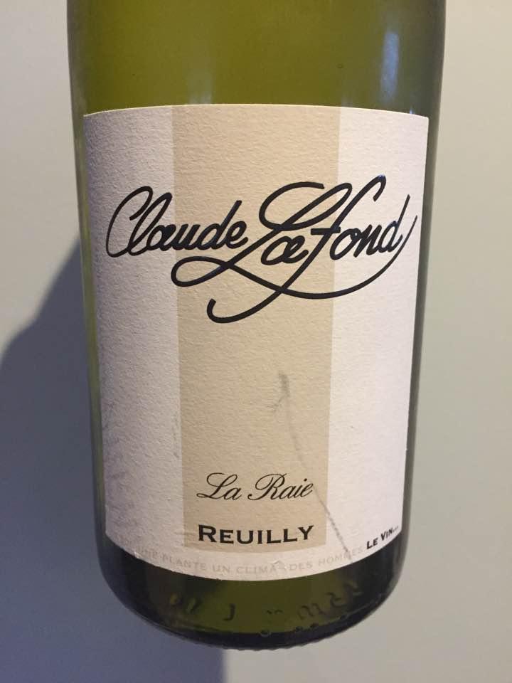 Claude Lafond – La Raie 2016 – Reuilly