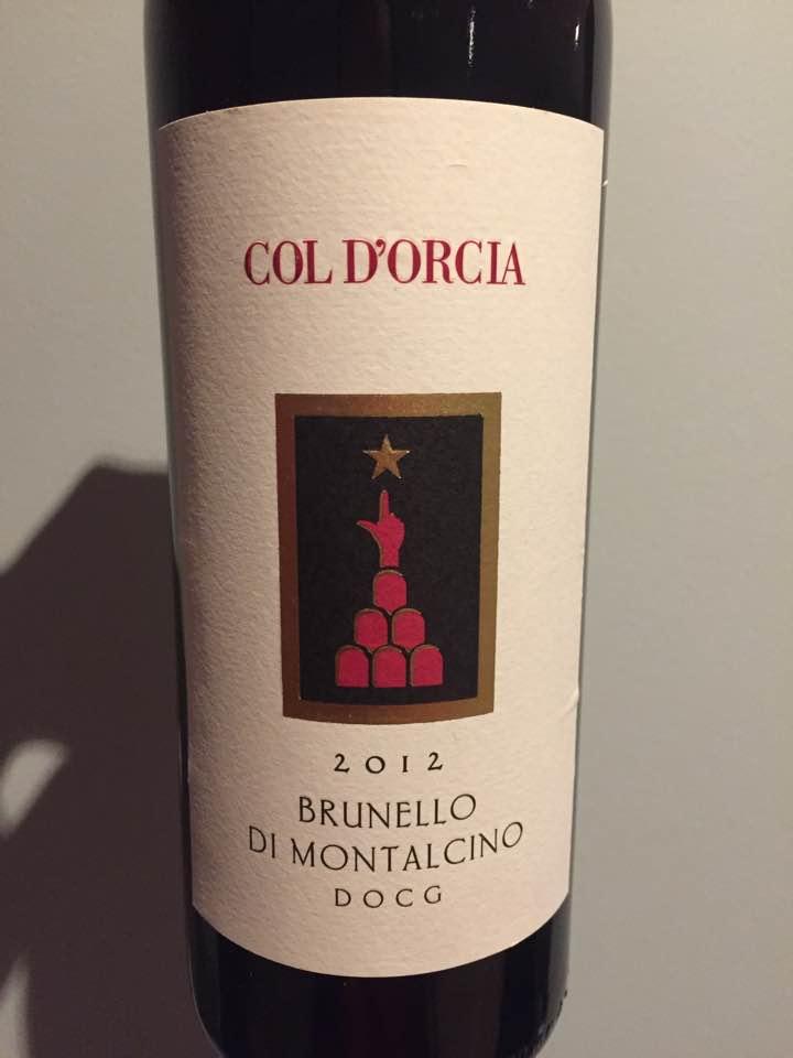 Col d'Orcia 2012 – Brunello di Montalcino DOCG