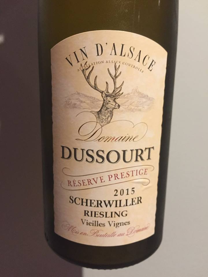 Domaine Dussourt – Reserve Prestige 2015 – Vieilles Vignes – Scherwiller Riesling – Alsace