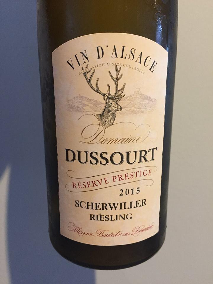 Domaine Dussourt – Riesling 2015 – Réserve Prestige – Scherwiller – Alsace