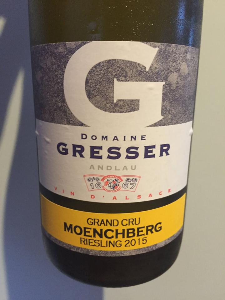 Domaine Gresser – Riesling 2015 – Moenchberg Grand Cru – Alsace