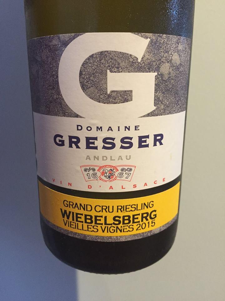 Domaine Gresser – Riesling 2015 – Wiebelsberg Grand Cru – Alsace