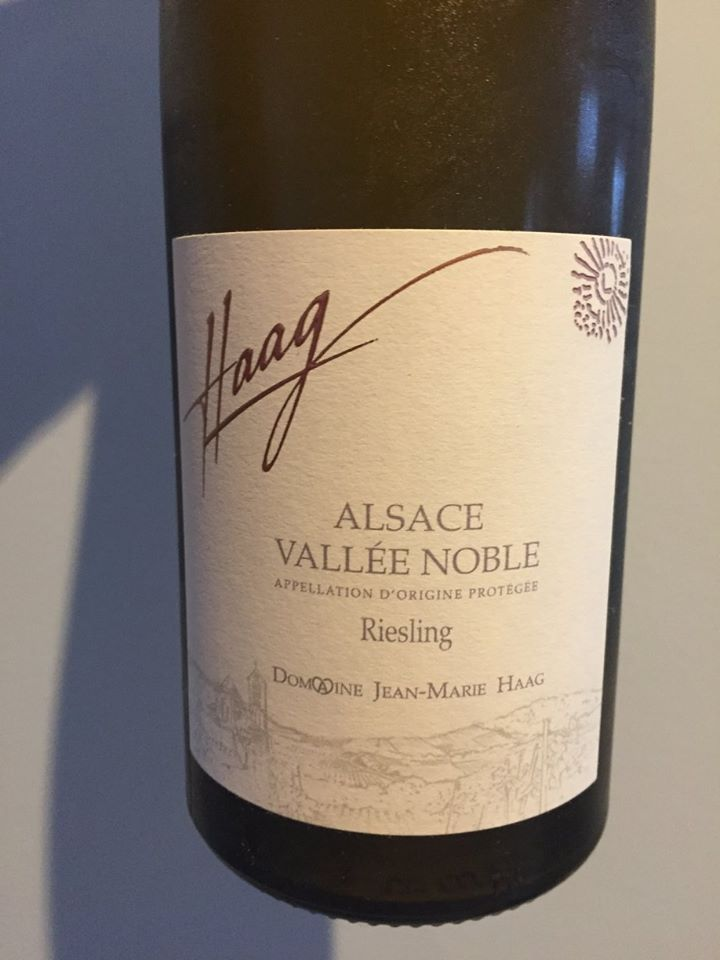 Domaine Jean-Marie Haag – Riesling 2015 – Vallée Noble – Alsace