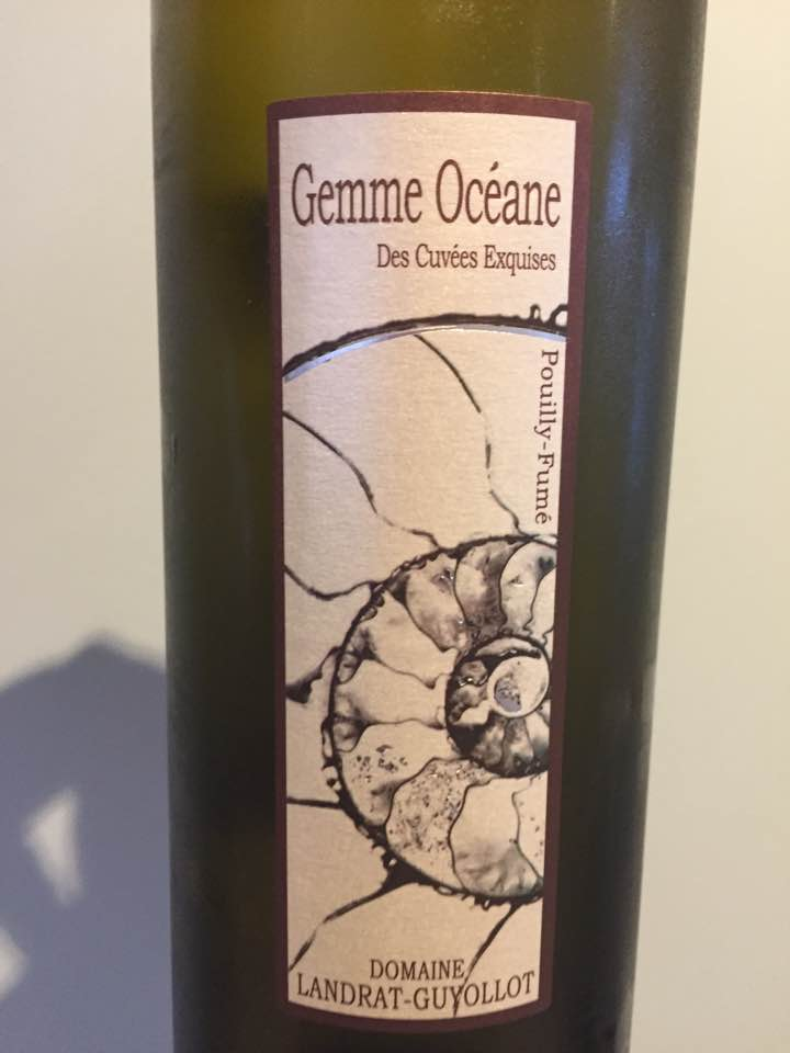 Domaine Landrat-Guyollot – Gemme Océane 2012 – Des Cuvées Exquises – Pouilly Fumé