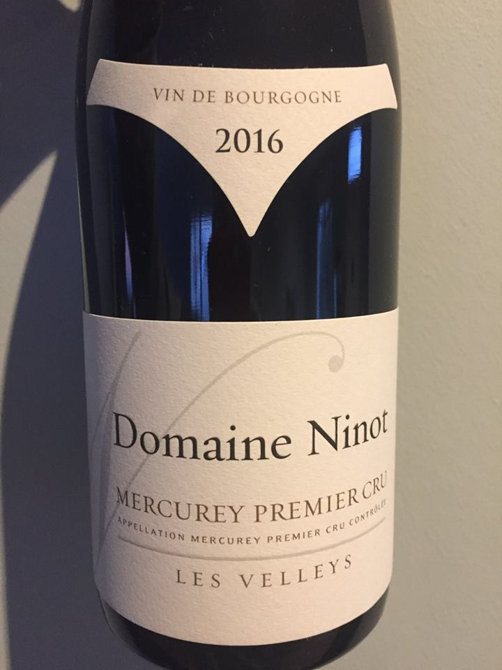 Domaine Ninot – Les Velleys 2016 – Mercurey Premier Cru