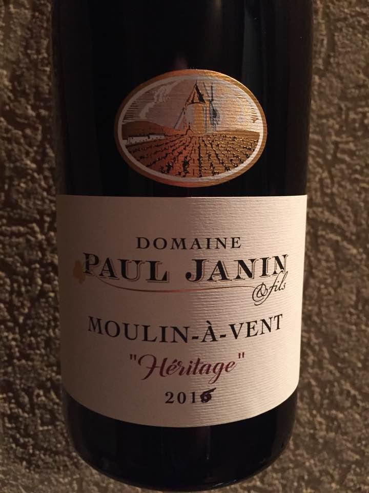 Domaine Paul Janin – Heritage 2016 – Moulin-à-Vent