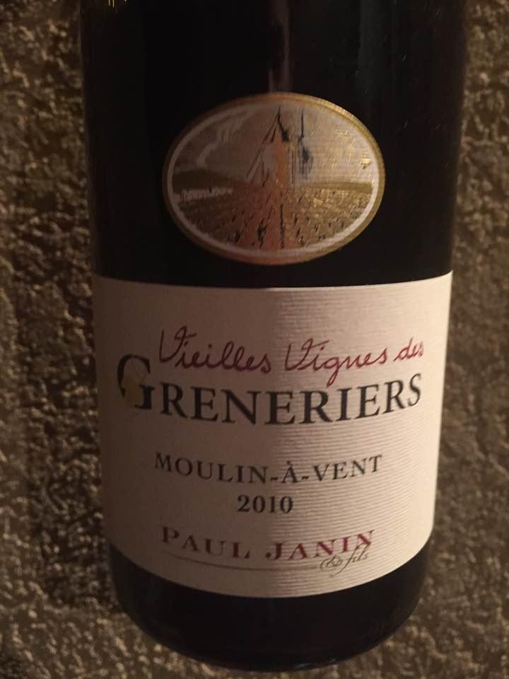 Domaine Paul Janin – Vieilles Vignes des Greneriers 2010 – Moulin-à-Vent