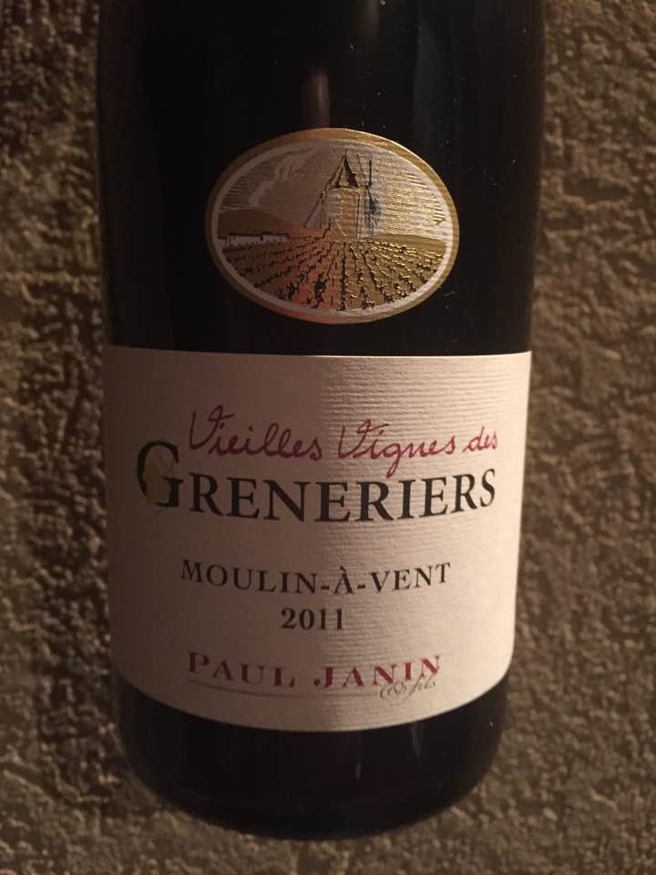 Domaine Paul Janin – Vieilles Vignes des Greneriers 2011 – Moulin-à-Vent
