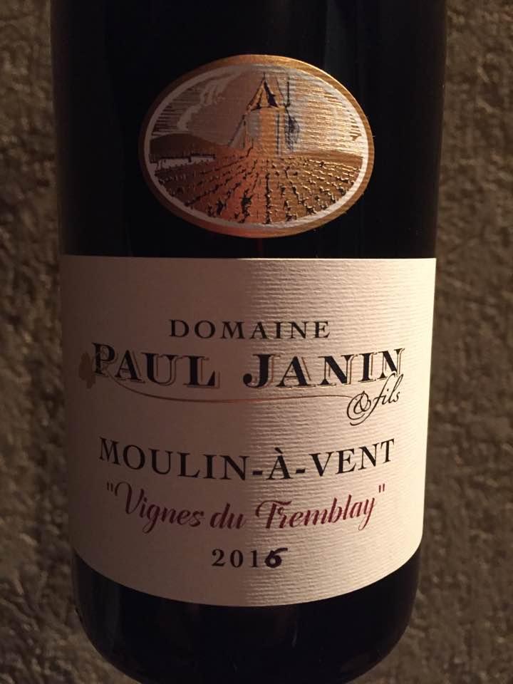 Domaine Paul Janin – Vignes du Tremblay 2016 – Moulin-à-Vent