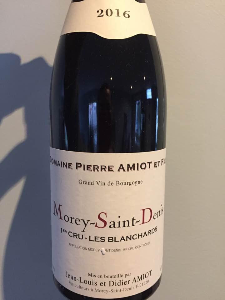 Domaine Pierre Amiot & Fils – Les Blanchards 2016 – Morey-Saint-Denis 1er Cru