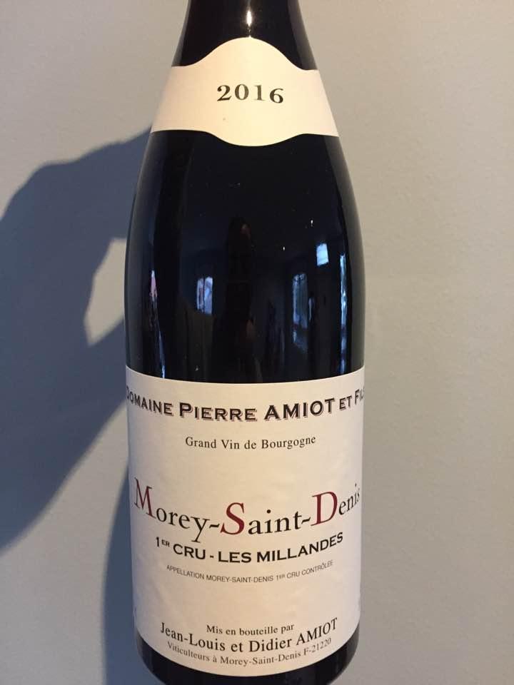 Domaine Pierre Amiot & Fils – Les Millandes 2016 – Morey-Saint-Denis – 1er Cru