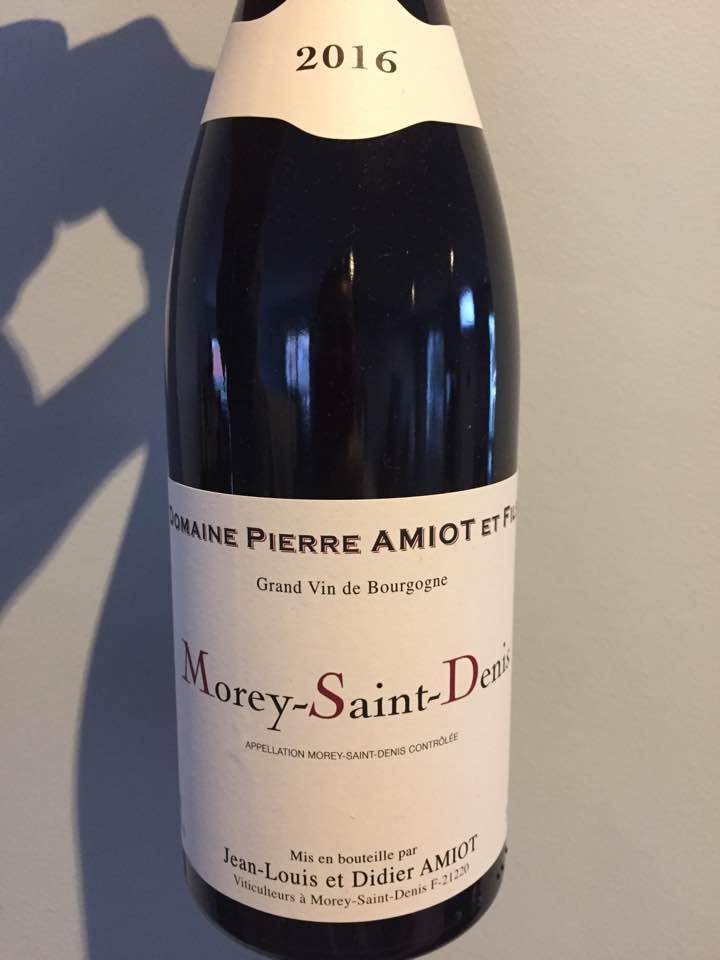 Domaine Pierre Amiot & Fils 2016 – Morey-Saint-Denis