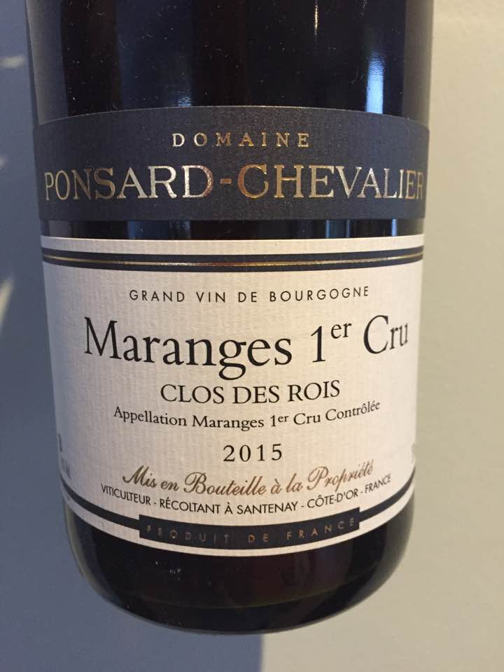 Domaine Ponsard-Chevalier – Clos des Rois 2015 – Maranges 1er Cru