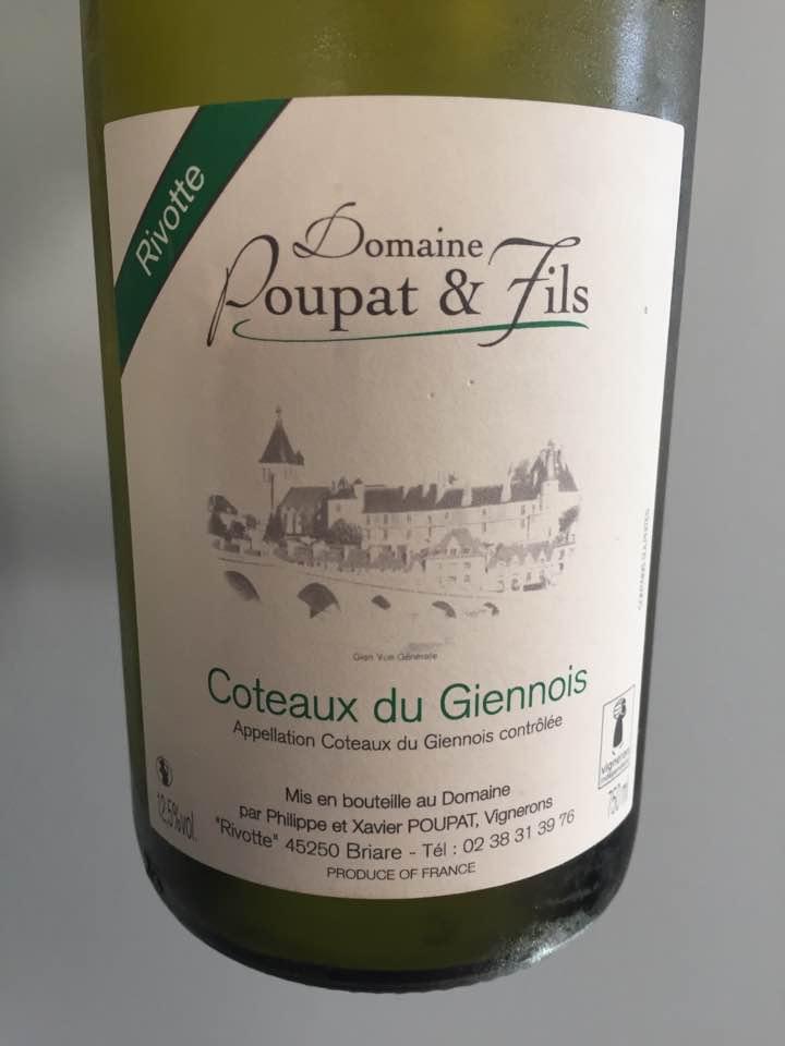 Domaine Poupat & Fils 2016 – Coteaux du Giennois