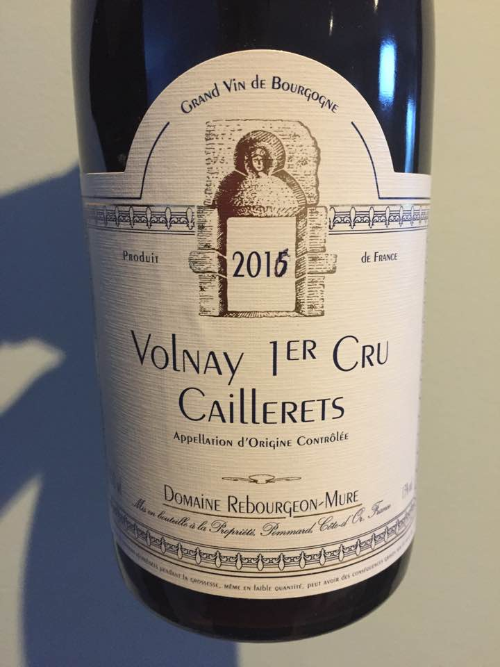 Domaine Rebourgeon-Mure – Caillerets 2016 – Volnay 1er Cru