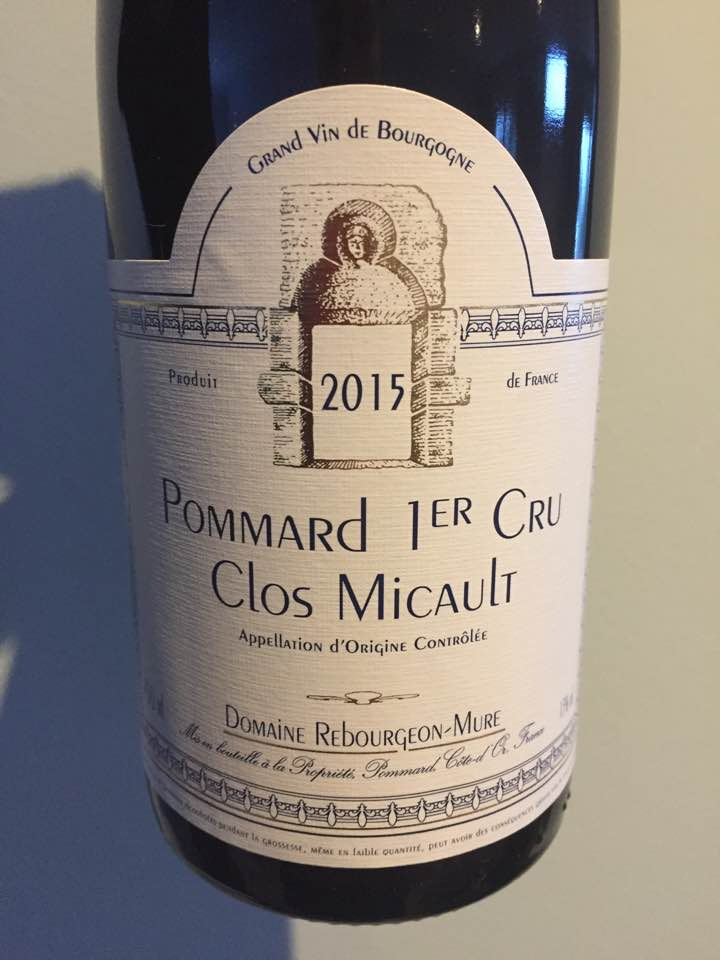 Domaine Rebourgeon-Mure – Clos Micault 2015 – Pommard 1er Cru