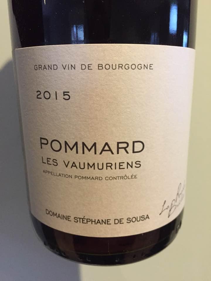 Domaine Stéphane de Sousa – Les Vaumuriens 2015 – Pommard
