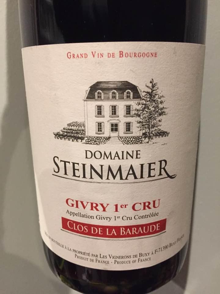 Domaine Steinmaier – Clos de la Baraude 2016 – Givry 1er Cru