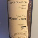 Domaine Stoeffler – Riesling 2015 – Kirchberg de Barr Grand Cru – Alsace
