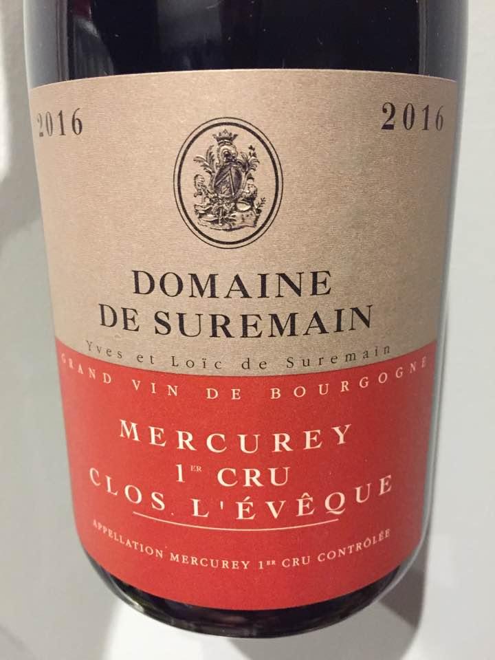 Domaine de Suremain – Clos L'Eveque 2016 – Mercurey 1er Cru