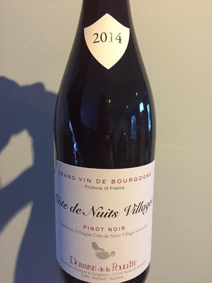 Domaine de la Poulette – Pinot Noir 2014 – Côtes de Nuits Villages