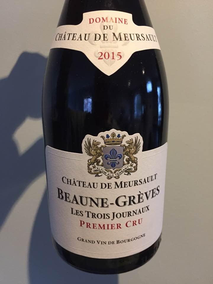 Domaine du Château de Meursault – Les Trois Journaux 2015 – Beaune-Grèves Premier Cru