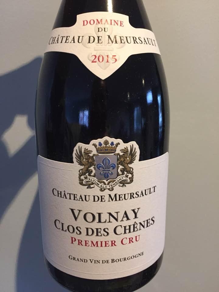 Domaine du Château de Meursault – Clos des Chênes 2015 – Volnay Premier Cru