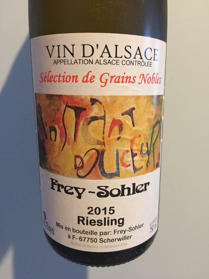 Frey-Sohler – Riesling 2015 – Sélection de Grains Nobles – Alsace