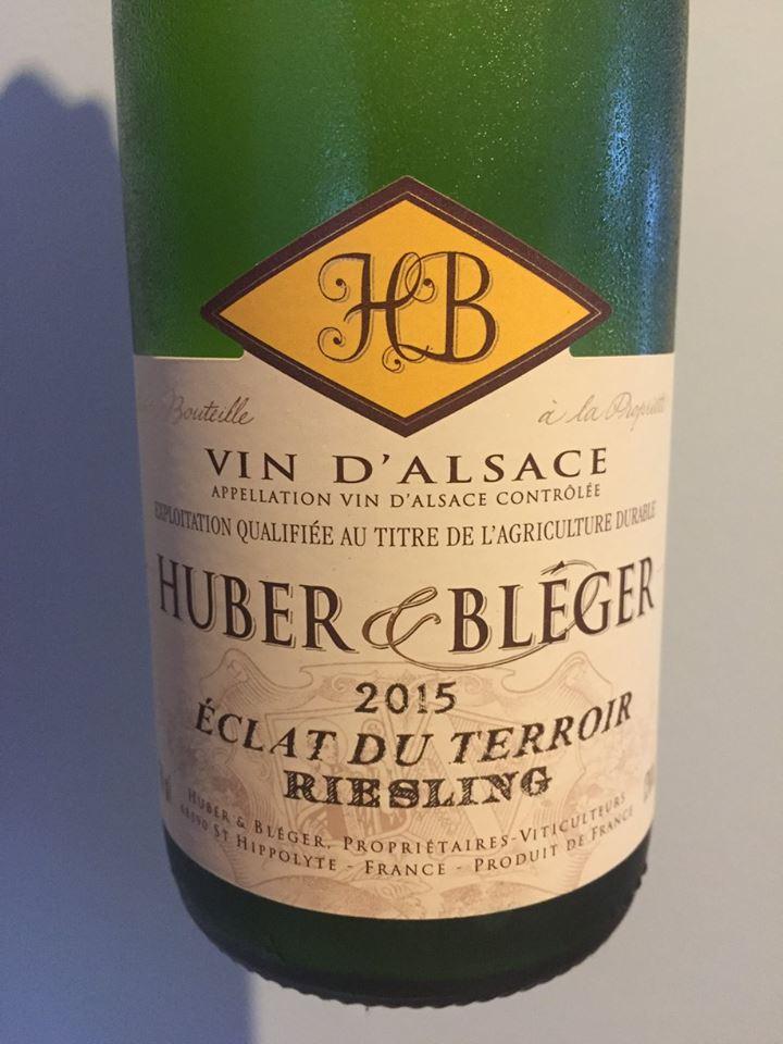Huber & Bléger – Riesling Eclat du Terroir 2015 – Alsace