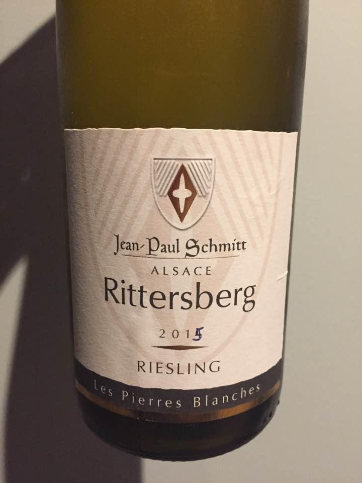Jean-Paul Schmitt – Les Pierres Blanches 2015 Riesling – Rittersberg – Alsace